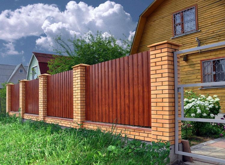 Забор из профнастила купить Профнастил производство Украина, Киев