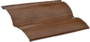 Сайдинг металлический блок-хаус купить Темное дерево
