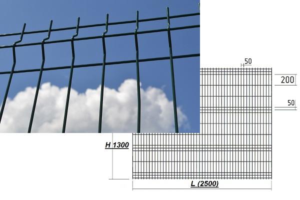 Секционный забор висота 1 3